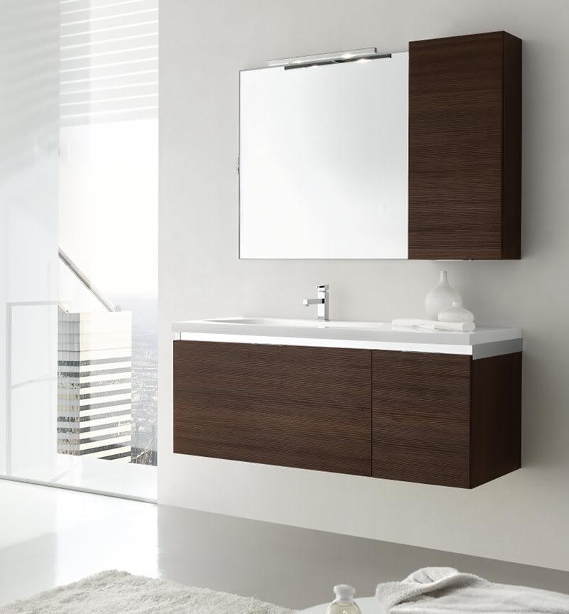 Mobile bagno sospeso con cassettoni e piano con vasca integrata ego08 120cm ebay - Mobili bagno ego ...