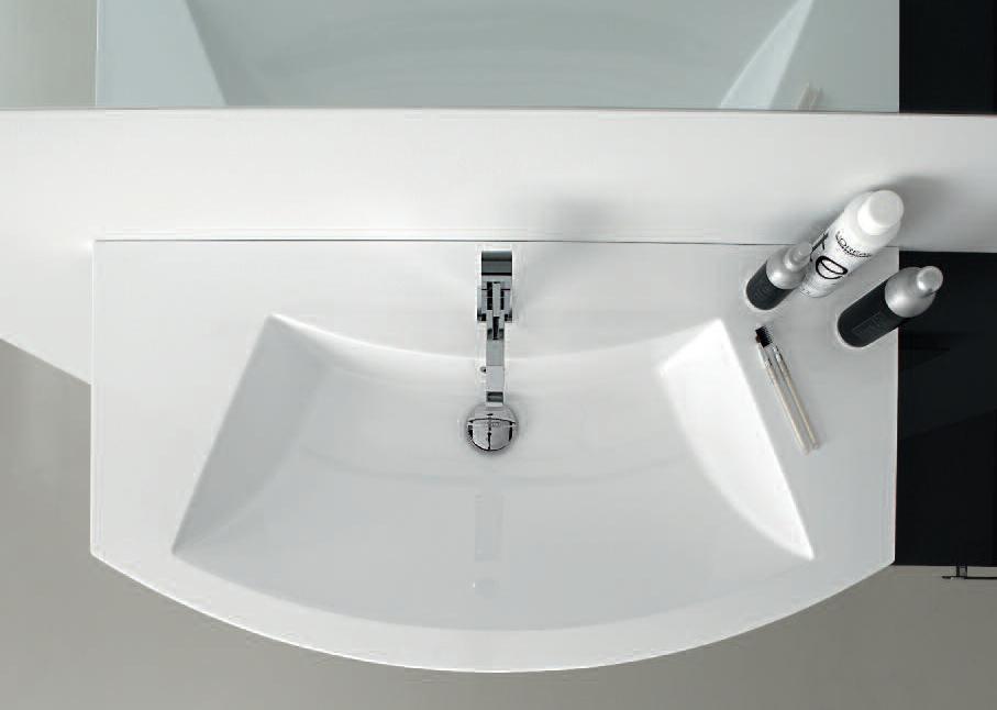 Mobile da bagno curvo moderno sospeso vari colori ly07 ebay for Arredo bagno moderno economico