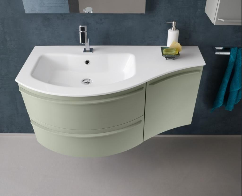 Mobile da bagno laccato kondor kn25 15 con base curva l for Ebay mobili da bagno