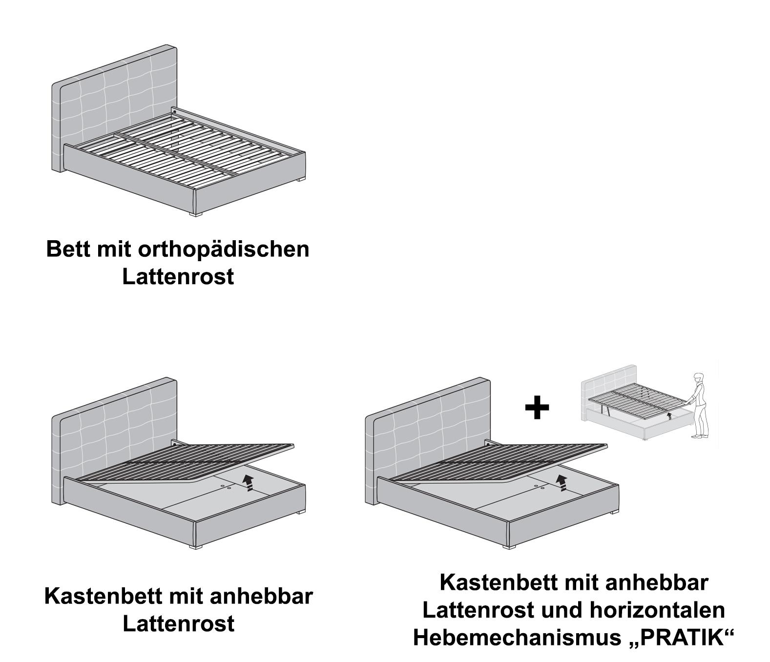 Doppelbett Transparent Aria 160 X 200 Cm In Stoff Oder 4