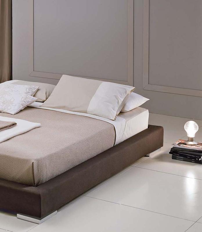 Orlando letto matrimoniale futon giapponese imbottito in tessuto o ecopelle interno77 - Letto matrimoniale imbottito ecopelle ...