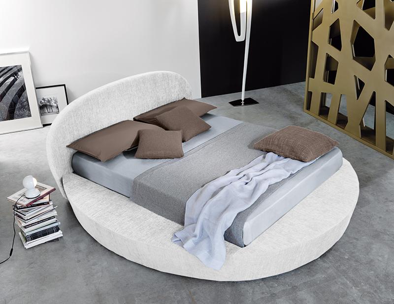 Rundes Bett mit Stauraum und gepolstertem - Doppelbett Giò - 100 ...