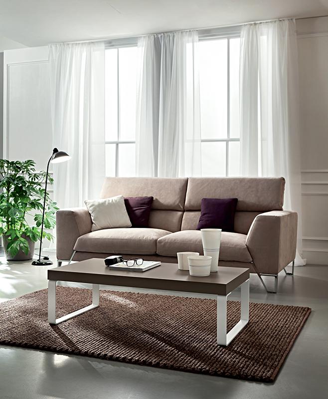 Anna tavolino moderno da salotto con gambe in metallo for Salotto moderno bianco