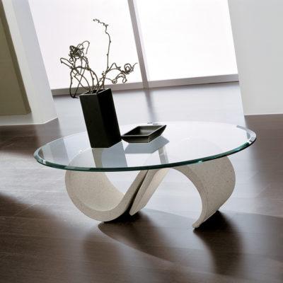 Mara - Tavolino moderno da salotto in mineral marmo TA126