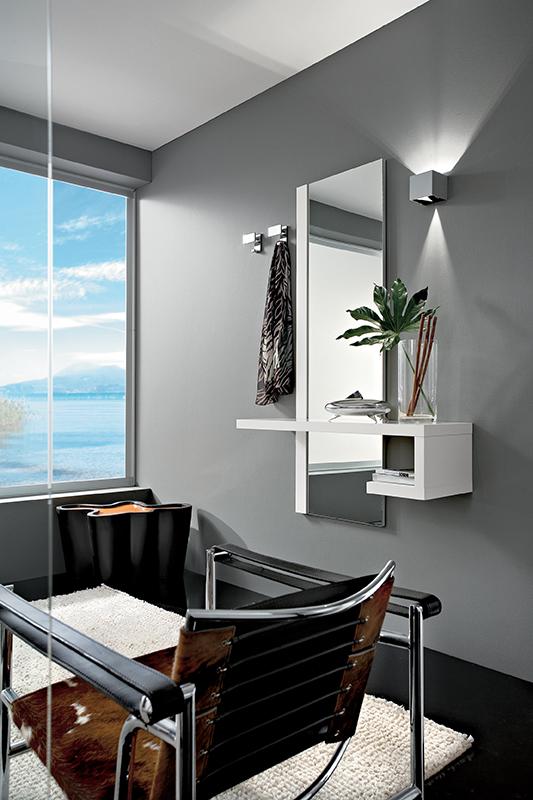 Alba mobile per ingresso con specchiera e consolle comp for Consolle estensibili