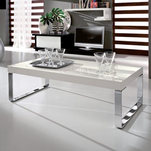 Anna - Tavolino moderno da salotto con gambe in metallo TA335