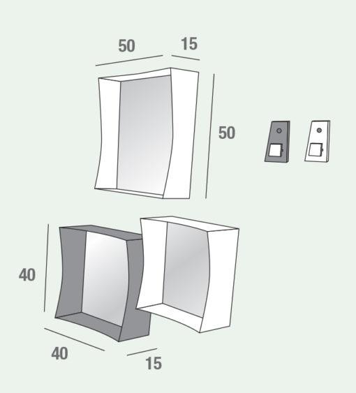 Marzia - Mobile per ingresso specchiere design componibili comp. 539