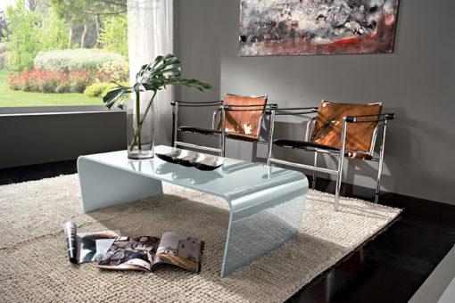 Iris - Tavolino moderno da salotto in vetro TA200
