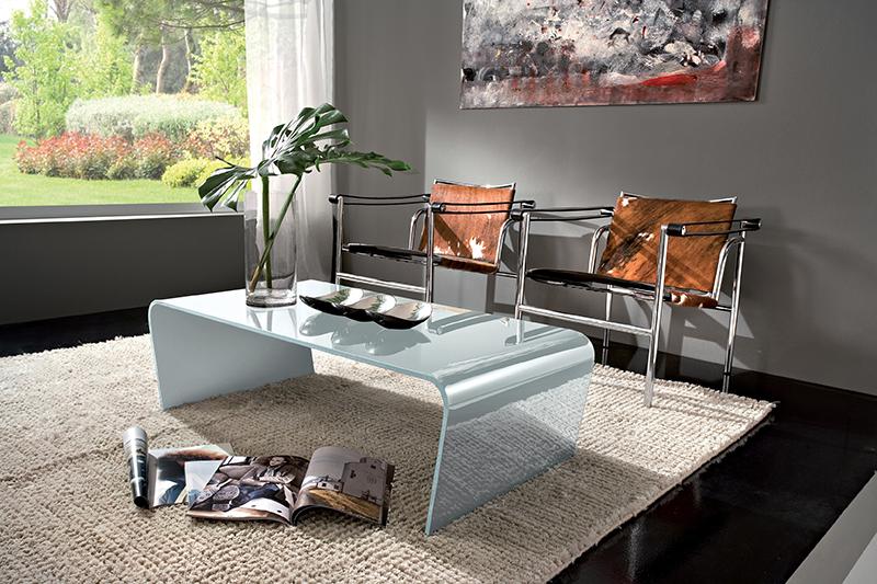 Iris tavolino moderno da salotto in vetro ta200 for Salotto moderno bianco