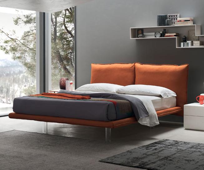 Arcade letto matrimoniale moderno con cuscini e rete inclusa maronese acf interno77 - Letto con cuscini ...