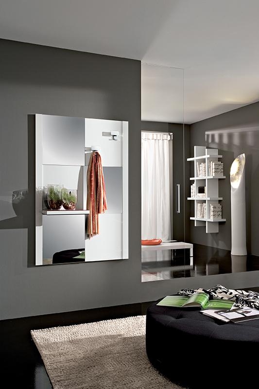Micky mobile per ingresso con specchio e mensola comp - Mobile d ingresso ...