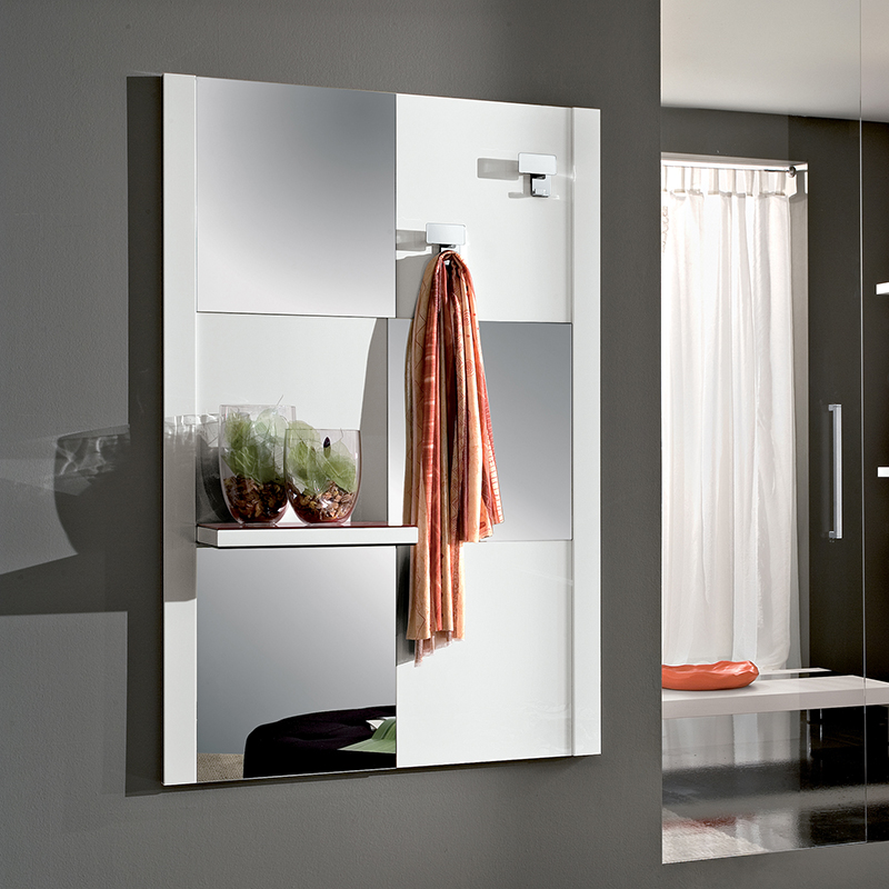 Specchio moderno ingresso consolle micky con mobile bianco - Mobile moderno per ingresso ...