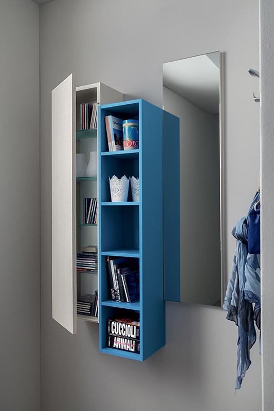Stella mobile per ingresso con specchiera libreria e - Libreria con specchio ...