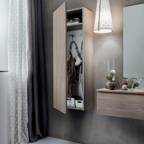 Stella - Mobile per ingresso con specchiera, armadio e cassetto ...