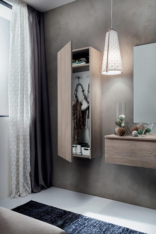 Stella - Mobile per ingresso con specchiera, armadio e cassetto comp. 632