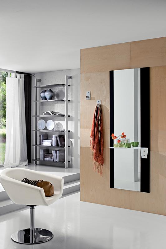 Lia mobile per ingresso con specchio e mensola comp 500 - Specchio con mensola ...