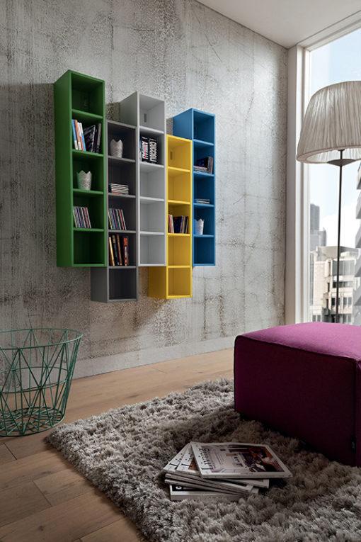 Stella - Mobile per studio o salotto con librerie comp. 633