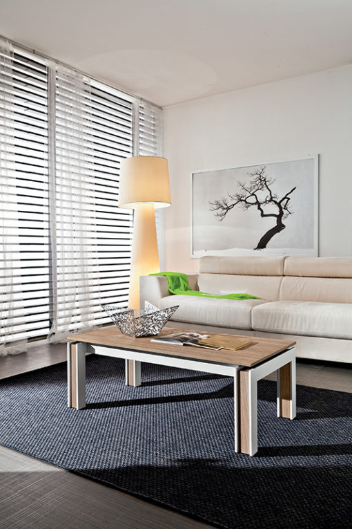 Letizia – Tavolino da salotto rettangolare con piano scorrevole TA374