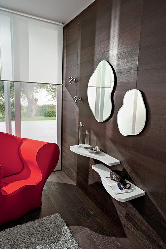 Nancy mobile per ingresso specchiere design con mensole for Mensole per ingresso