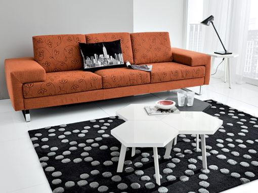 Rossella - Tavolino moderno da salotto con piano esagonale piccolo TA370