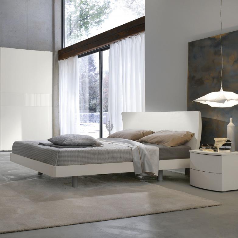 Fly letto matrimoniale moderno con rete inclusa e struttura in legno mab interno77 - Struttura letto matrimoniale con contenitore ...