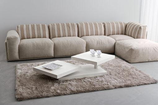Cecilia - Tavolino moderno da salotto con piani girevoli TA368