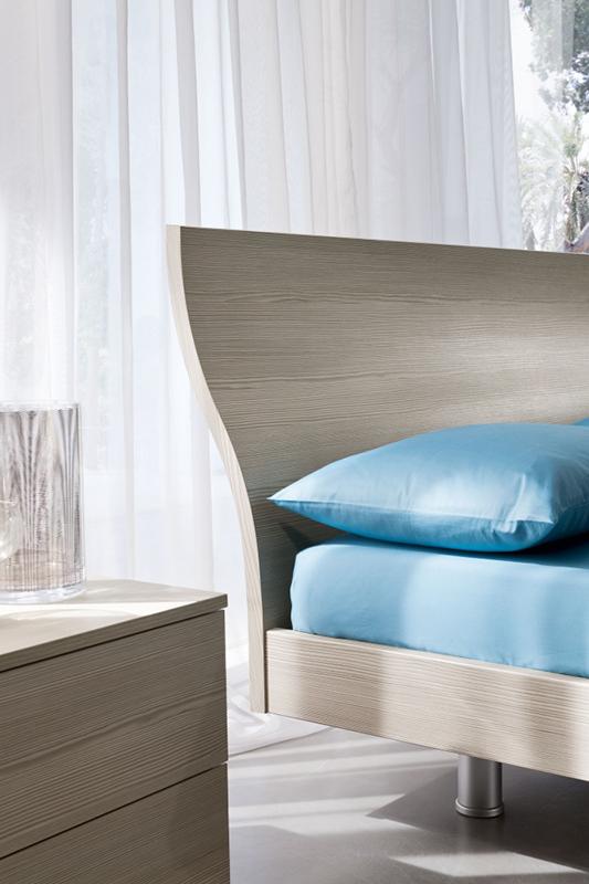 Mixer letto matrimoniale moderno con rete inclusa e - Letto matrimoniale moderno in legno ...