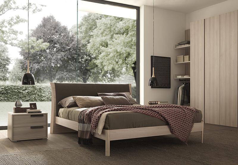 Joy letto matrimoniale moderno con cuscino rete inclusa e struttura in legno mab interno77 - Struttura letto matrimoniale 180x200 ...