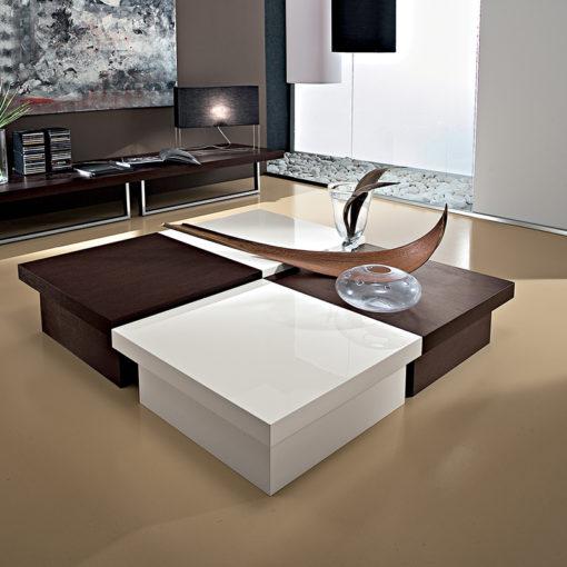 Asia - Tavolino moderno da salotto contenitore quadrato TA347