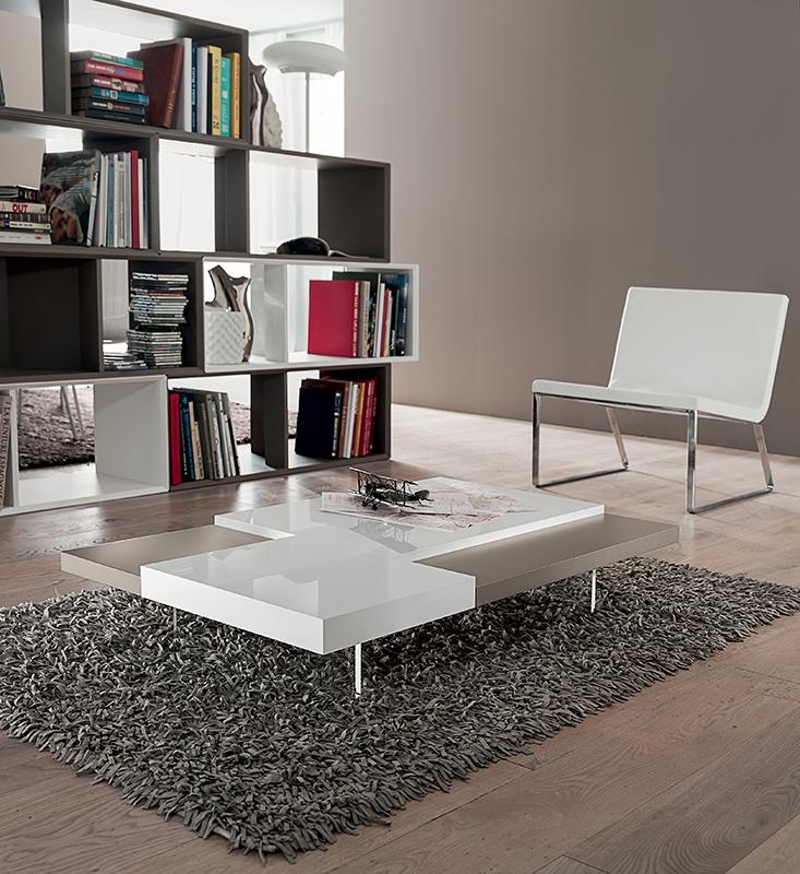 Erica tavolino moderno da salotto dal design essenziale - Tavolini da salotto conforama ...