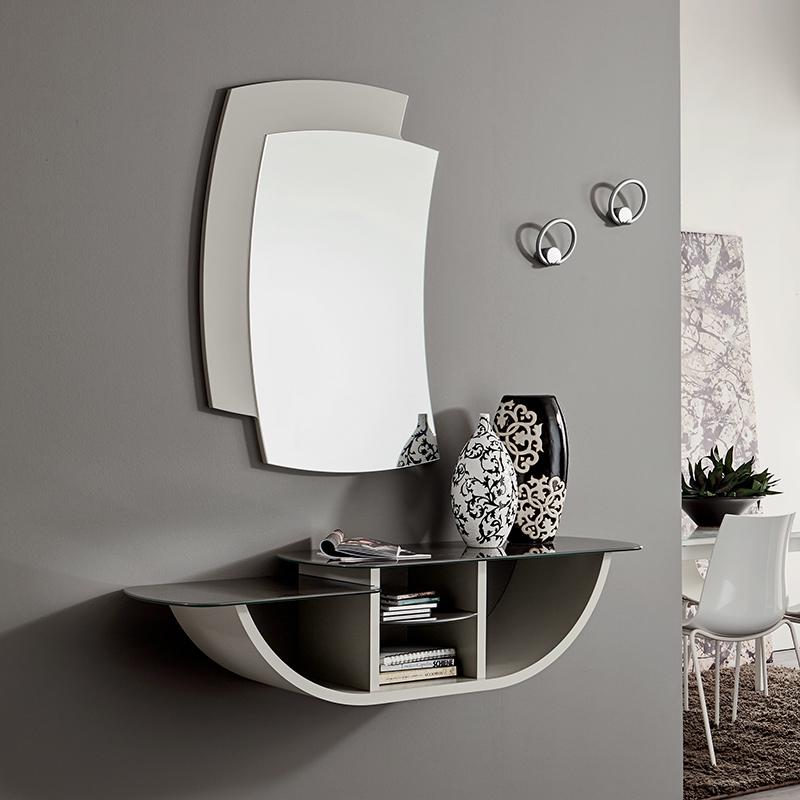 Mobile moderno ingresso consolle specchio gondola 671 ebay for Arredo ingresso moderno