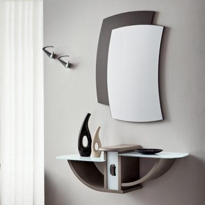 Gondola - Mobile per ingresso con specchiera e consolle con cassetto comp. 670
