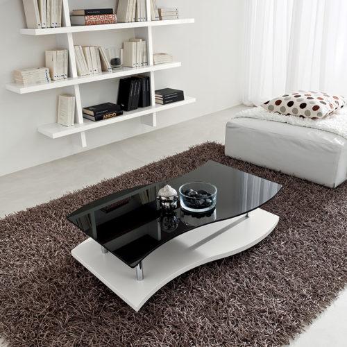 Gaia - Tavolino moderno da salotto con ruote TA345