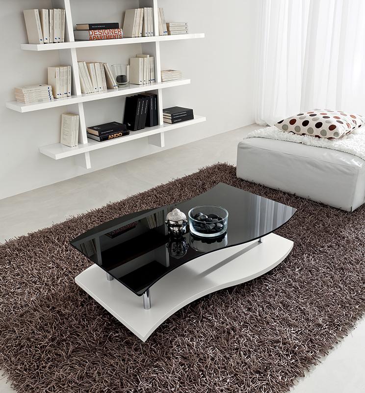 Gaia tavolino moderno da salotto con ruote ta345 for Tavolino salotto moderno amazon