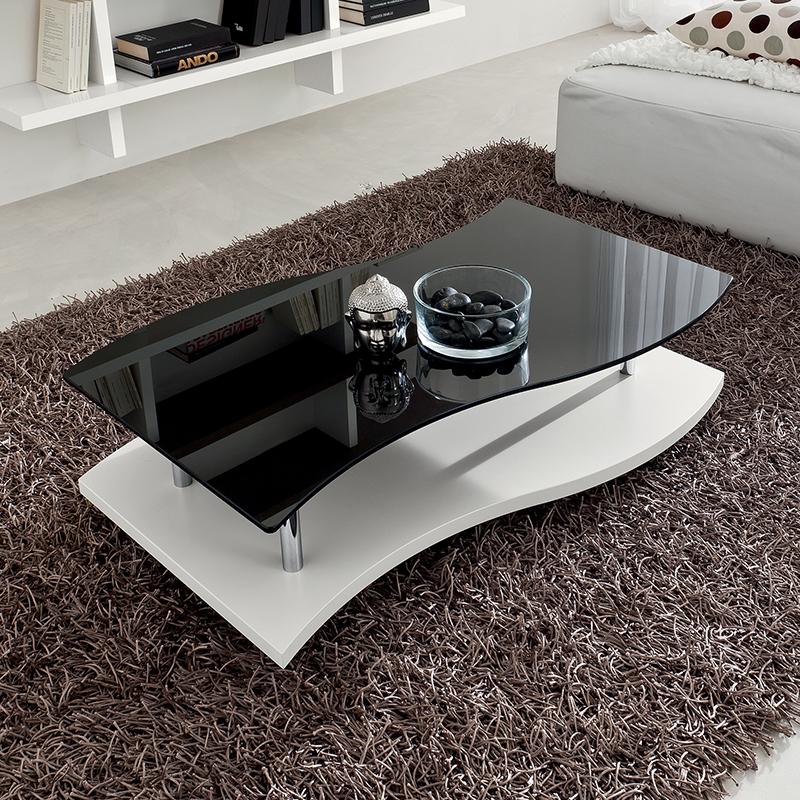 Tavolino mod gaia tavolo basso da salotto con piano in for Tavoli moderni da salotto
