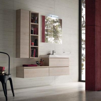 CL001 - Mobile arredo bagno design L.141 cm personalizzabile COMPAB