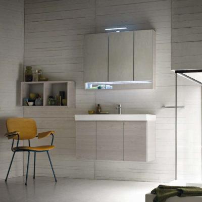 CL006 - Mobile arredo bagno design L.96 cm personalizzabile COMPAB