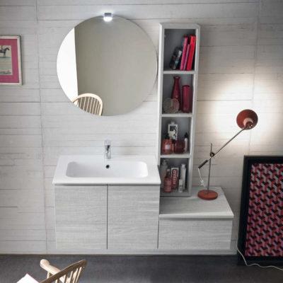 CL008 - Mobile arredo bagno design L.121 cm personalizzabile COMPAB