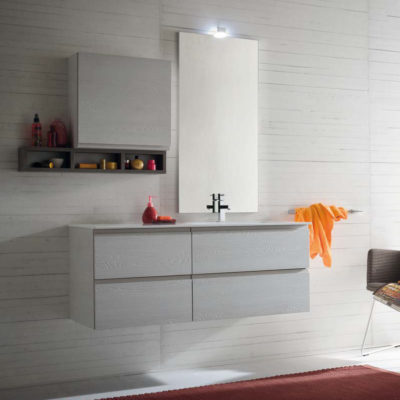 CL011 - Mobile arredo bagno design L.120,5 cm personalizzabile COMPAB