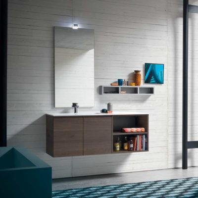 CL013 - Mobile arredo bagno design L.120,5 cm personalizzabile COMPAB