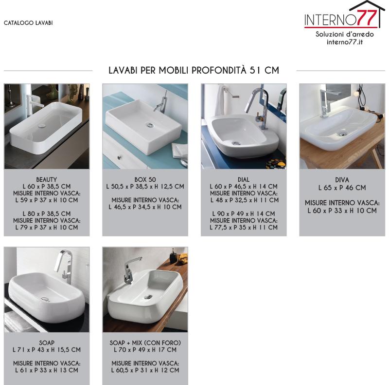 bb1 - mobile arredo bagno design doppio lavabo l.177 cm ... - Misure Arredo Bagno
