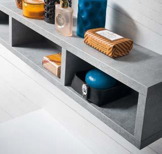 CL012 - Mobile arredo bagno design L.120,5 cm personalizzabile COMPAB