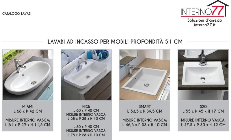 Lavabi A Incasso Dimensioni.El26 Mobile Arredo Bagno Design L 170 Cm Personalizzabile Compab Interno77 Soluzioni D Arredo