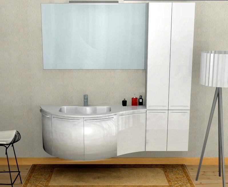 B201 12 mobile arredo bagno curvo cm personalizzabile compab interno77 soluzioni d for Lavandini bagno design