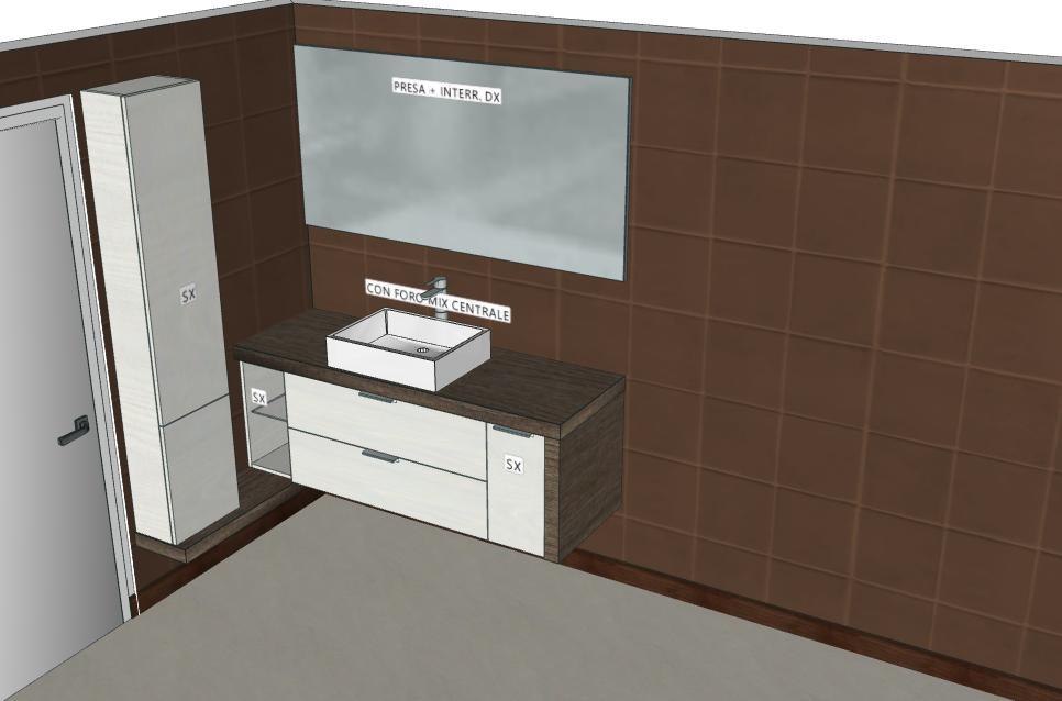 B201 Y12 – Mobile arredo bagno design L.141 cm personalizzabile ...
