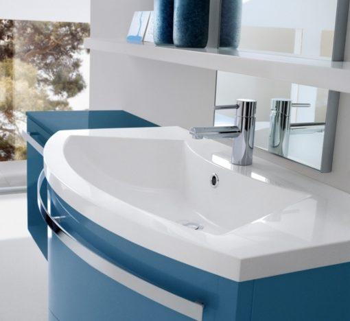 CH 11 - Mobile arredo bagno curvo L.147 cm personalizzabile COMPAB