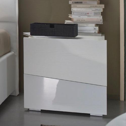Square - Comodino moderno 2 cassetti L 47,7 cm MAB
