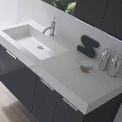 B201 CITY - Mobile arredo bagno design L.120 cm personalizzabile COMPAB