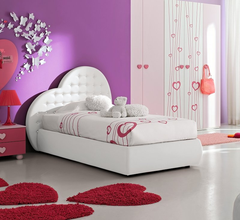bett herz 90 cm mit lattenrost f r m dchen mod prinzessin mab ebay. Black Bedroom Furniture Sets. Home Design Ideas
