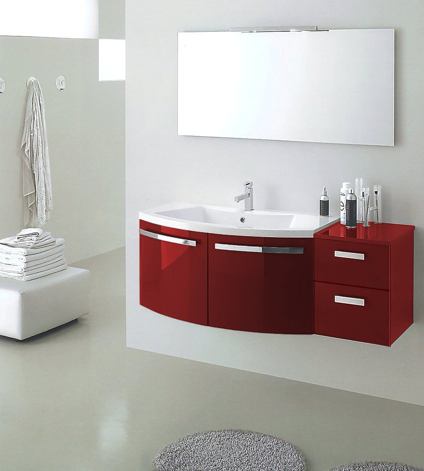 B201 06B – Mobile arredo bagno curvo L.130 cm personalizzabile COMPAB - INTERNO77  Soluzioni d ...